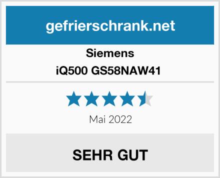 Siemens iQ500 GS58NAW41  Test
