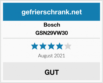 Bosch GSN29VW30 Test