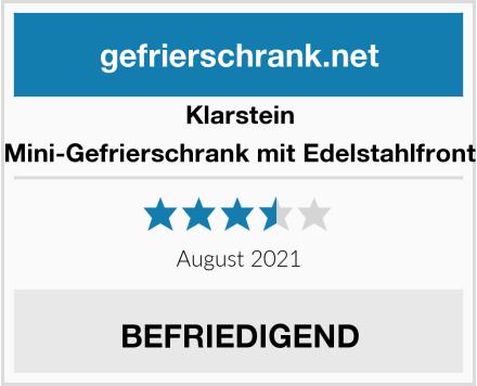 Klarstein Mini-Gefrierschrank mit Edelstahlfront Test