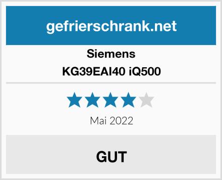 Siemens KG39EAI40 iQ500 Test