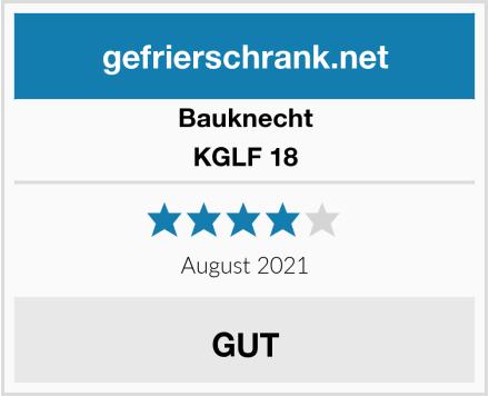 Bauknecht KGLF 18 Test
