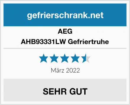 AEG AHB93331LW Gefriertruhe Test