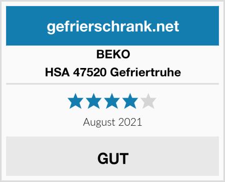 BEKO HSA 47520 Gefriertruhe Test