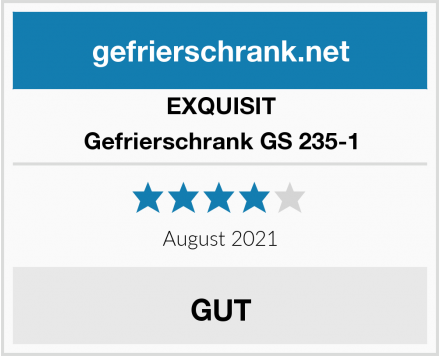 EXQUISIT Gefrierschrank GS 235-1 Test