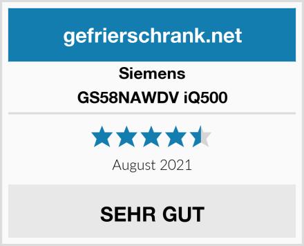 Siemens GS58NAWDV iQ500 Test