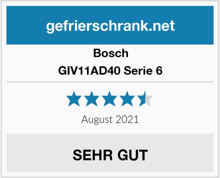 Bosch GIV11AD40 Serie 6 Test