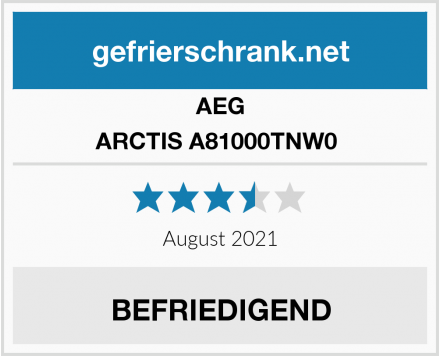 AEG ARCTIS A81000TNW0  Test